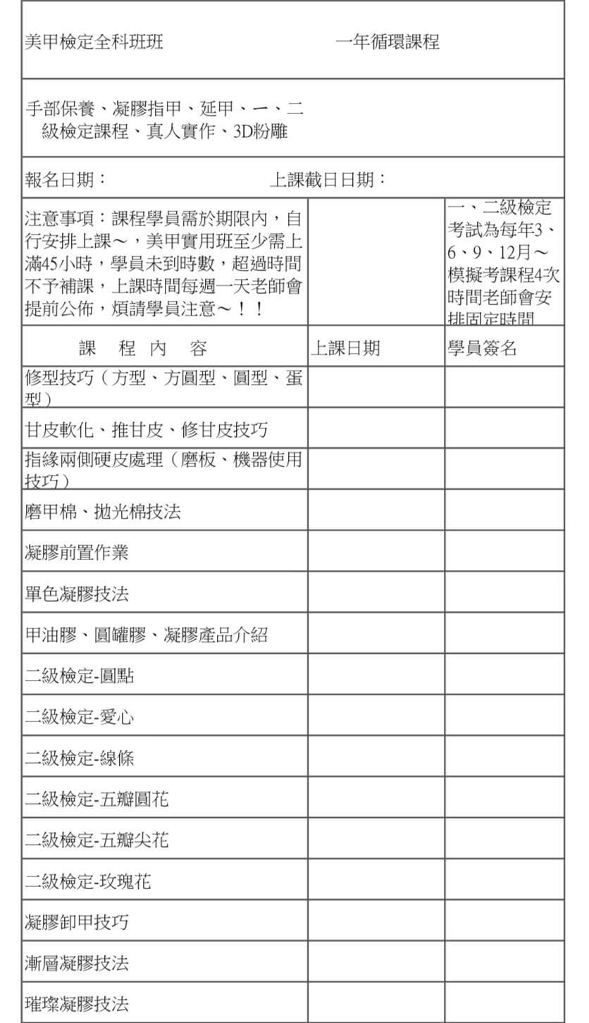高雄嵐公主美甲教學 美甲檢定全科班 只要49999元含材料 循環課程 手部保養 凝膠指甲 凝膠延甲 3D粉雕ㄧ、二級檢定證照課程 美甲教學課程
