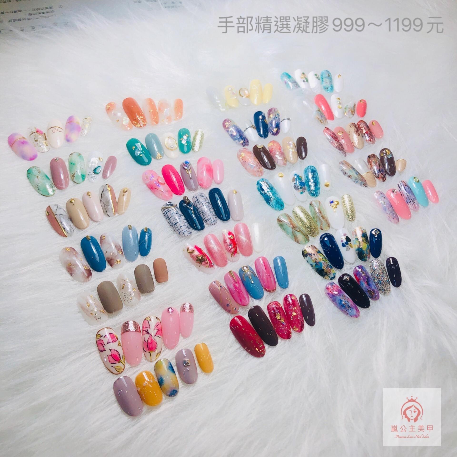 手部凝膠精選多款 999~1199元(可換色、含甲面保養)